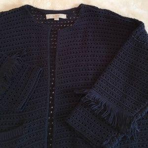 NW/OT Chic dark blue cardigan!